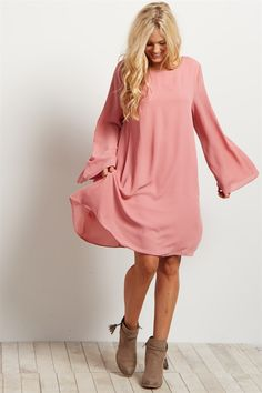 With a breezy and beautiful style featuring a bell sleeve for the most gorgeous bohemian inspired accent, this dress is perfect for a night out in comfort and style.