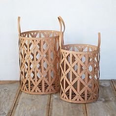 Woven Leather Cylinder Basket in GIFT GUIDE Best Bets at Terrain