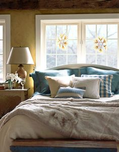 This charming Scandinavian Christmas home is owned and decorated for the holidays by Connecticut Interior Designer Edie van Breems. Swedish Bedroom, Swedish Decor, Scandinavian Style Home, Swedish Style, Swedish House, Cozy Bedroom, Bedroom Decor, Scandinavian Christmas, White Bedroom