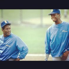 In father and son became teammates. Ken Griffey, Take Me Out, Seattle Mariners, Football, Baseball, Father And Son, Sons, Rain Jacket, Windbreaker