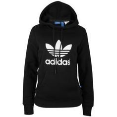 $49 adidas Originals Trefoil Hoodie - Women's - Black/White