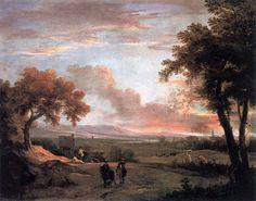 マルコ・リッチ (Marco Ricci)「Southern Landscape at Twilight」