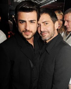 Harry Louis (L) and Marc Jacobs at the launch of 'Kate: The Kate Moss Book' hosted by Marc Jacobs in London.