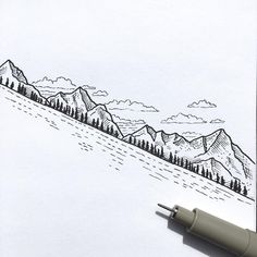 Small, simple yet effective sketch/ illustration using fineliner pen by Jonny @drawntosketching. - Inspiration.