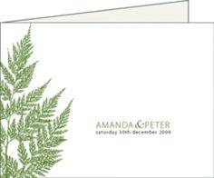 wedding invitations with ferns   Invitation » Cocoa Berry ~ invitation by design