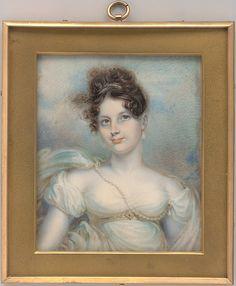 Mrs. Manigault Heyward (Susan Hayne Simmons) miniature painting. Artist: Robert Fulton (American, Little Britain, Pennsylvania 1765–1815 New York) Date: ca. 1813. Watercolor on ivory. The Metropolitan Museum of Art. Accession Number: 14.135
