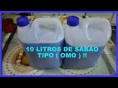10 LITROS DE SABÃO LIQUIDO ( TIPO OMO ) !! - YouTube