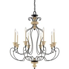 Shelby Sand Eight-Light Chandelier