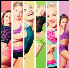 Dance Moms Brooke, Maddie, Mackenzie, Nia, Paige, and Chloe. Pictures of Dance Moms original six dancers. <3