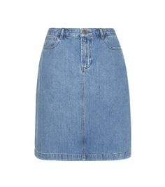 A.P.C. - High Standard denim skirt - With a straight cut that finishes just above the knee in classic blue denim, the High Standards skirt has all the makings of a summertime essential. A.P.C.'s minimalist ease is seen in the unfussy silhouette. We'll be styling ours with white leather sneakers on urban days. @ www.mytheresa.com