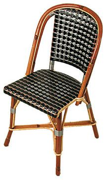 Fouquet Chair, Black/Silver - traditional - dining chairs and benches - TK Collections