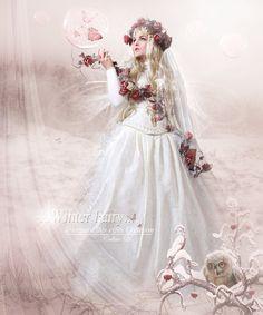 Winter Fairy by Le-Regard-des-Elfes.deviantart.com on @deviantART