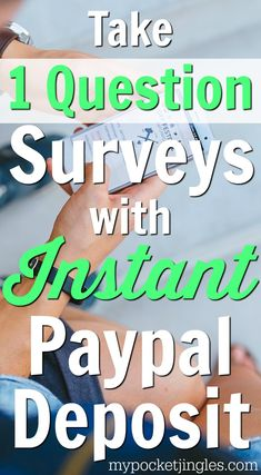 There are a lot of apps that pay you to take surveys on your phone, but 1Q is one of the best. Instead of doing those long surveys that love to disqualify you halfway through (ughhh), 1Q sends you one question at a time and pays you for each question! Learn more about how 1Q works here: http://www.mypocketjingles.com/2015/12/1q-app-review-answer-1-question-get-instant-paypal-deposit.html