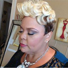 Tamela Mann Short Relaxed Hairstyles, Black Hair Updo Hairstyles, Baddie Hairstyles, Woman Hairstyles, Beautiful Hairstyles, Short Sassy Hair, Short Hair Cuts, Short Hair Styles, Pixie Styles