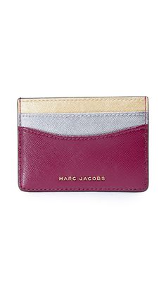 Tote your credit cards in style with this leather Tricolor Card Case from Marc Jacobs