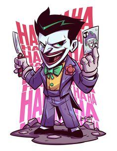 Chibi joker is so horribly cute. If you want more such awesome pins visit my board Chibi . Der Joker, Joker Art, Joker And Harley Quinn, Joker Batman, Character Drawing, Comic Character, Character Design, Chibi Marvel, Marvel Vs