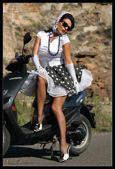 Nalezený obrázek pro Pantyhose Women Scooters
