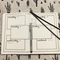 Bullet Journal Weekly Log // bujo weekly spread - New Ideas