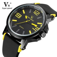 New Price $7.38, Buy V6 arrival brand Women men watch fashion watches relogio masculino military high quality quartz wrist watches clock male sports