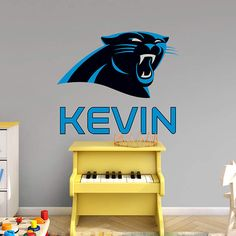 Carolina Panthers Stacked Personalized Name