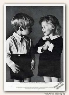 Twins...1973 Florence Eiseman Velvet Childrens Clothes Ad
