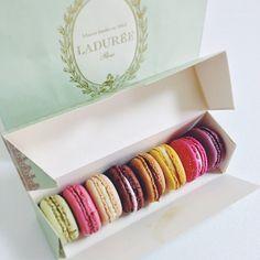 Laduree Paris macarons yummy!!!!