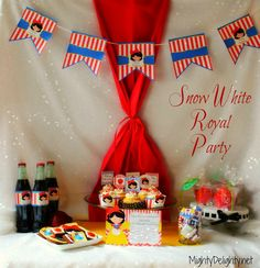 5x7 Snow White Royal Princess Party Printable by MightyDelighty, $15.00