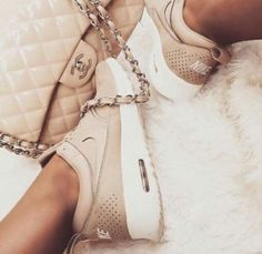 nike nude- chanel bag - Nike running shoes http://www.justtrendygirls.com/nike-running-shoes/