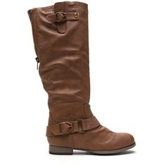 Peekaboo I See You Faux Leather Boots LTBROWN ($31) ❤ liked on Polyvore featuring shoes, boots, brown, knee-high boots, zipper boots, back zipper boots, slip on boots, vegan boots and round toe boots