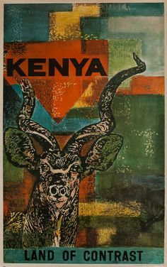 DP Vintage Posters - Keyna, Land of Contrast, Original African Travel Poster