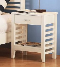 Possible night stand for @Richard Pierre to make? Definitely not white... with or without slats?