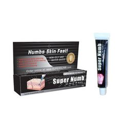 Numbing Cream that numbs your skin before painful cosmetic treatment or tattooing. Long lasting numbing up to 4 hours!  Active ingredient:...