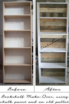 I have an ugly target bookcase- this could make it a bit more interesting, plus the back is missing so it would be sturdier!