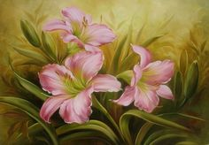 ♡ So many beautiful flower paintings on this site!!!  ♥A