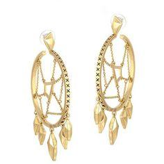 Belle Noel By Kim Kardashian Dream Catcher Hoop Earrings ($135) ❤ liked on Polyvore
