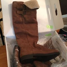 "Selling this ""Tall Mcclour brown boot"" in my Poshmark closet! My username is: bogrady0123. #shopmycloset #poshmark #fashion #shopping #style #forsale #ALDO #Boots"