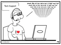 Tech Support Cartoon -Turn it off and on...