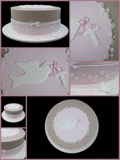 girls confirmation cake inspired by michelle cake designs