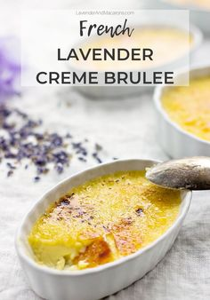 I'll show you how to make the BEST Creme Brulee for summer. This rich and elegant French dessert is infused with dry lavender and is so easy to make. It's creamy, delicious and perfect for holidays or when you're expecting guests. Classic French Dishes, French Food, Traditional French Recipes, Desserts To Make, Healthy Desserts, Valentines Day Food, Valentine Desserts, Coleslaw, Lavender Macarons
