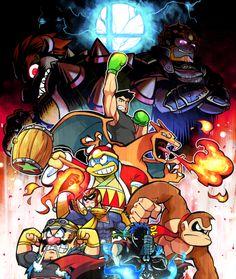 Captain Falcon, Ganondorf, Little Mac, Charizard, Wario, Bowser, Donkey Kong, King Dedede and Ike.