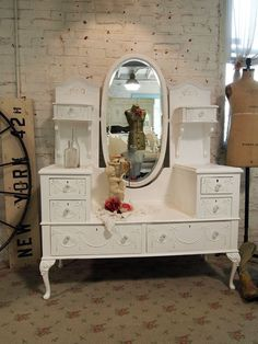Painted Cottage Chic Shabby White Romantic by paintedcottages, $695.00  in love <3