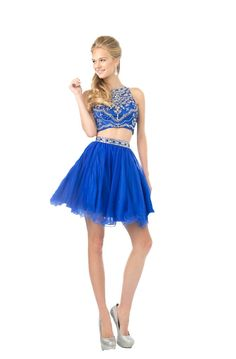 Flirty 2 Piece Homecoming Formal #Prom #Dress Crop Top