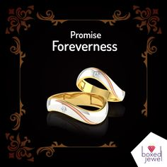 Promise Foreverness Together. Couple Rings for Him & Her to Bind into the Vows of Eternity. www.boxedjewel.com #Couple #Ring #Jewellery