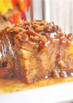 This Pumpkin Praline Bread Pudding is so incredibly easy to make, it comes out of the oven rich and completely delicious -- and everyone will love it!