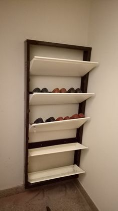 Our Favorite Wall Mount Shoe Rack Home Ideas, Popular Collection Wall Mount Shoe Storage Shoe Shelf Ikea, Shoe Storage Furniture, Wall Mounted Shoe Storage, Shoe Shelves, Diy Furniture, Shoe Cabinet Design, Shoe Storage Design, Rack Design, Closet Shoe Storage