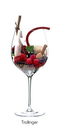TROLLINGER  Cherry, almond, red currant, raspberry, strawberry, lentils, ivy, licorice, mushroom, juniper, black pepper, cinnamon, nutmeg, rubber band