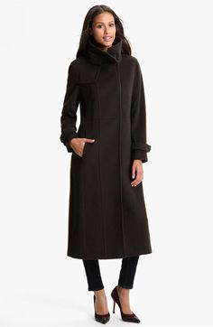 RAINFOREST Long Wool & Cashmere Coat   Nordstrom