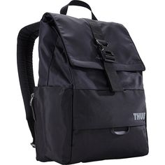 Thule Departer 23L Daypack - Black - Laptop Backpacks (79 CAD) ❤ liked on Polyvore featuring accessories, tech accessories, black, padded laptop case, laptop cases and thule laptop case
