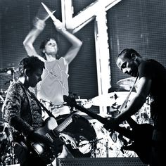 Muse playing at Reading festival in 2011.