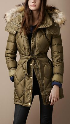 Even more coveting!: Fur Trim Down-Filled Puffer | Burberry